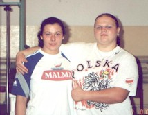 Picture of Aneta and her friend Agata Wrobel who is the World Champion in Weightlifting. female athletes, female weightlifters, female powerlifters, bodybuilding, power lifting, female strongman, strongwoman,